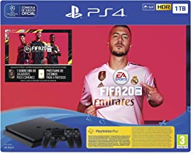 PlayStation 4 (PS4) + FIFA 20/FUTVCH/PS y días +DS4 v2/PS41TBF/SPA, Slim 1TB