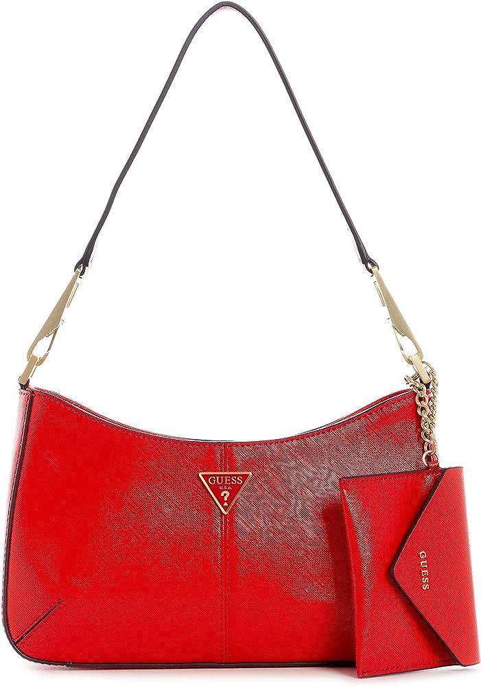 Guess layla shoulder bag red borsa da donna in pelle sintetica VS798920