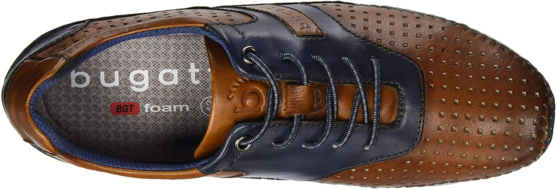 Bugatti 321700034040, Scarpe da Ginnastica Basse Uomo Marrone Cognac Dark Blue 6341
