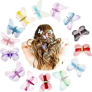 5x Mini Schmetterling Haarspangen Haarnadeln Kopfschmuck Haarspange Hochzei E4F7