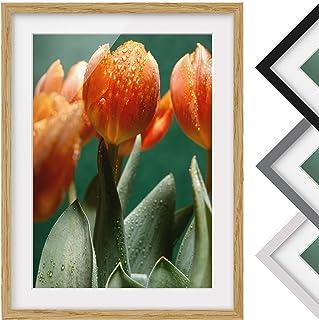 Bilderwelten Póster Enmarcado - We Are Tulip - Color de Marco Madera de encina 55 x 40 cm