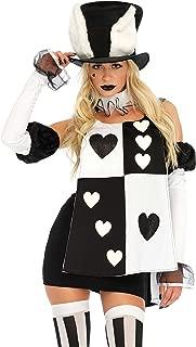 Women's Black Wonderland White Rabbit Costume