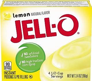 JELL-O Lemon Instant Pudding & Pie Filling Mix (3.4 oz Box)