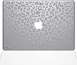 """The Decal Guru 2047-MAC-12M-S Leopard Spots Decal Vinyl Sticker, Silver, 12"""" MacBook"""