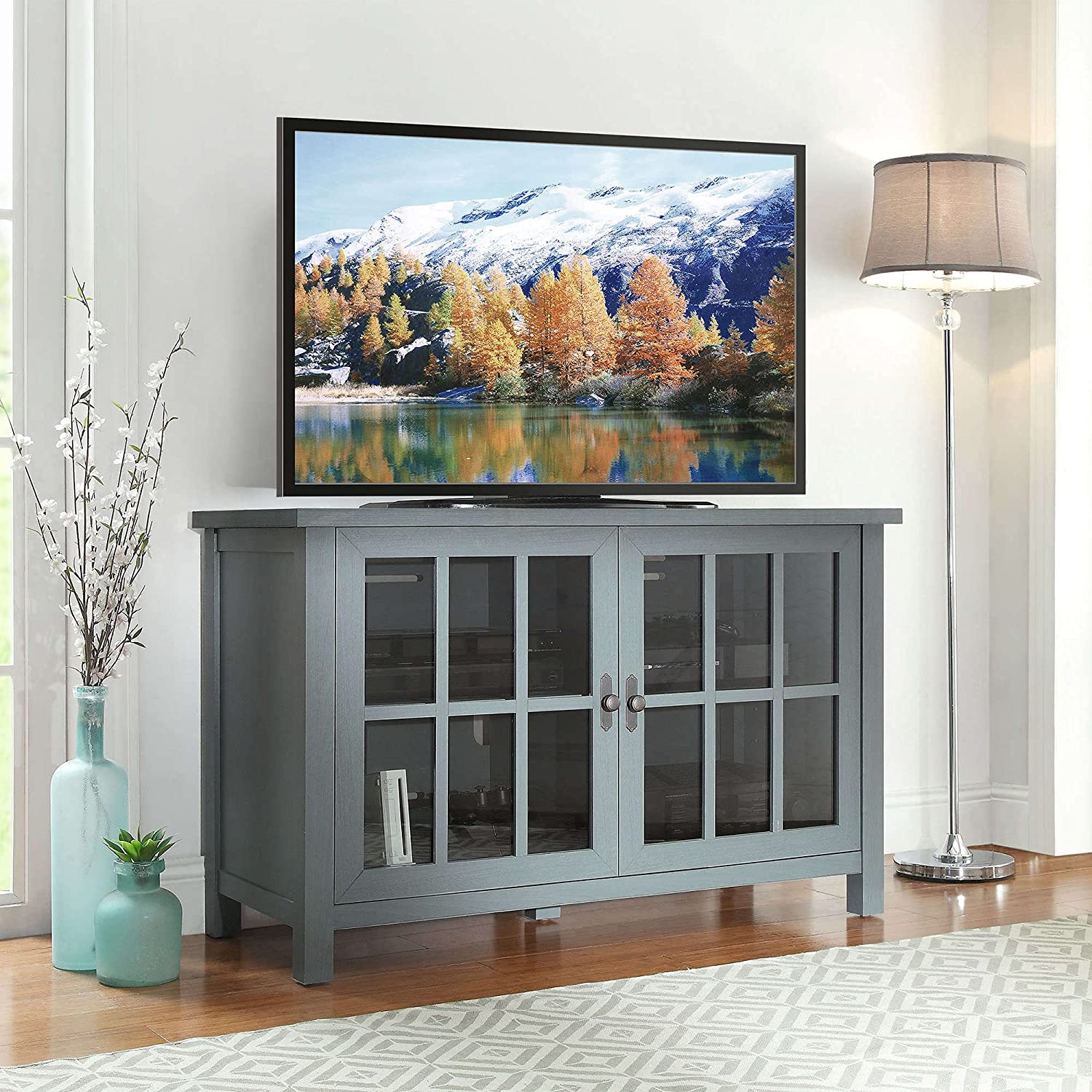 Square TV Stand for TVs up Sale to Shelves Table - f 55