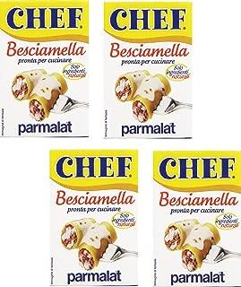 Parmalat: Italian Besciamella (Béchamel Sauce) 6.7 Fluid Ounce (200ml) Packages (Pack of 4)