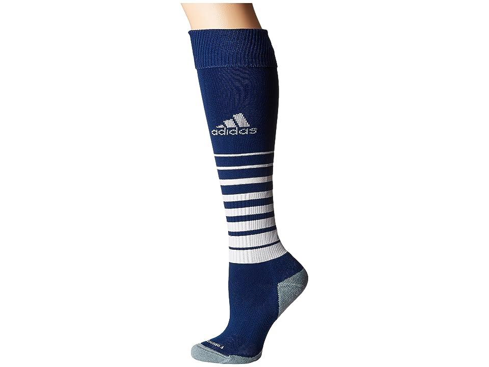 adidas Kids Team Speed Soccer Sock (Little Kid/Big Kid) (New Navy/White 3) Kids Shoes