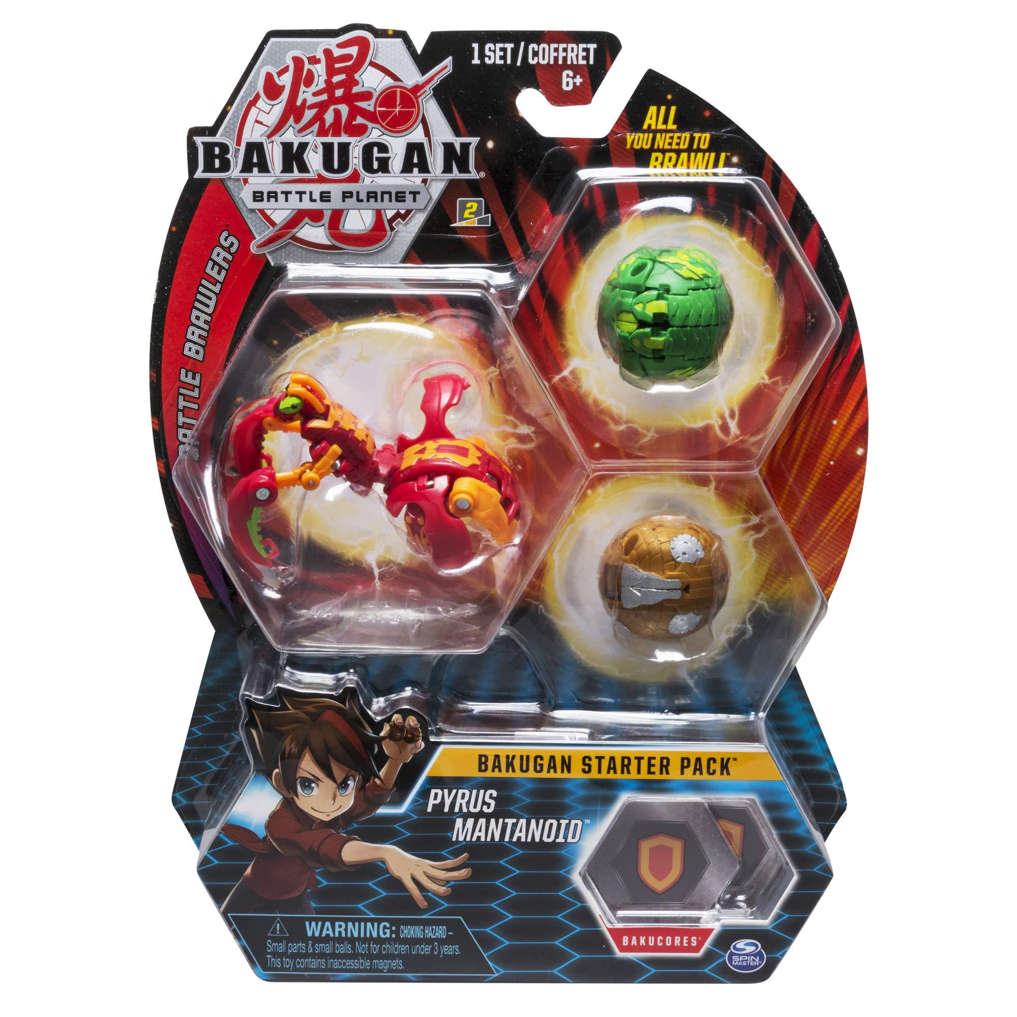 BAKUGAN Starter Pack Pyrus Mantanoid Multicolore (Bizak 61924426)