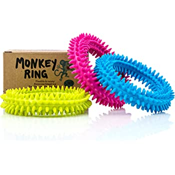 Spiky Sensory Ring / Bracelet Fidget Toy (Pack of 3) - BPA/Phthalate/Latex-Free - Fidgets Toys / Stress Rings for Children and Adults - by Impresa