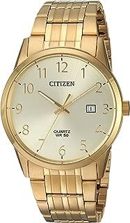 Men's Quartz Stainless Steel Casual Watch, Color:Gold-Toned (Model: BI5002-57Q)