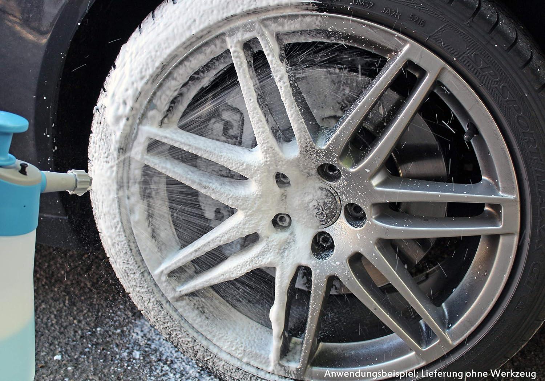 Petzoldts Cabrio Und Autowaschset Mit Schaum Shampoo Waschhandschuh Waschschwamm Trockentuch Reinigungsbürste Auto