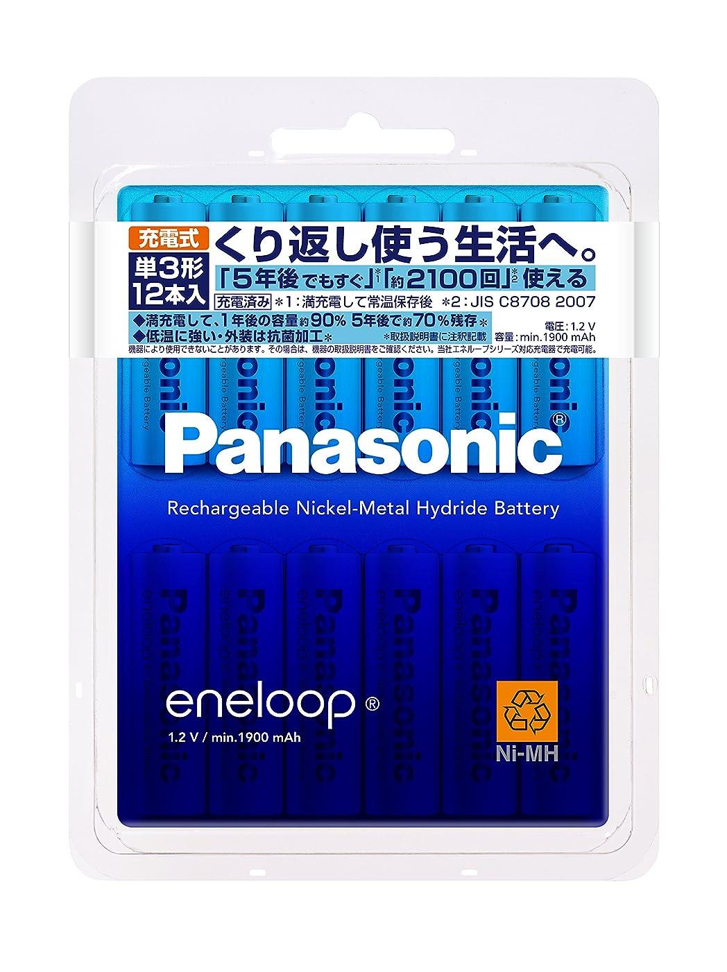 染料吐き出す実装するパナソニック eneloop 単3形充電池 12本パック スタンダードモデル BK-3MCC/12