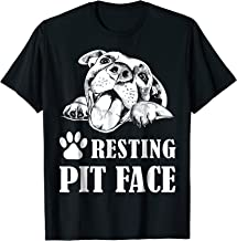 Funny Dog Pitbull Resting Pit Face T-Shirt