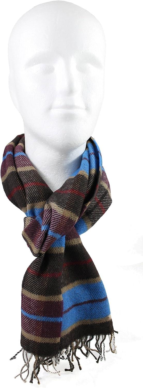 Rotfuchs Winterschal /& Warm Karo modisch Mehrere Farbstellungen Wolle Made in Germany