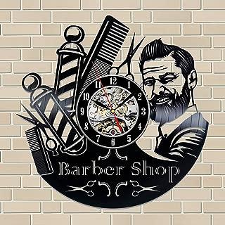 Barber Shop Gift Vinyl Record Wall Clock Fan Black Room Idea …