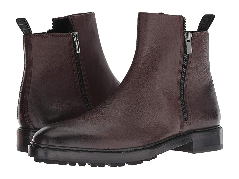 BOSS Hugo Boss Boheme Zip Casual Boot by HUGO (Dark Brown) Men