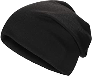 ZLYC Soft Slouchy Beanie Hat for Women Men Fashion Thin Knit Stretch Skull Cap