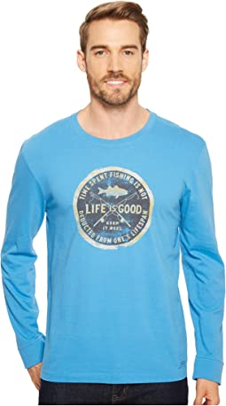 Life is Good - Time Spent Fishing Long Sleeve Crusher Tee