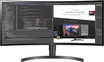 LG 34WN80C-B 34 inch 21:9 Curved UltraWide WQHD IPS Monitor with USB Type-C Connectivity sRGB 99% Color Gamut and HDR10 Compatibility