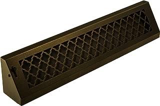 SteelCrest BTU24BBSORB Bronze Series Designer Baseboard Vent with Air-Volume Damper, Oil Rubbed