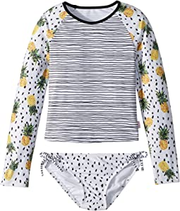 Seafolly Kids - Pineapple Daze Long Sleeve Surf Set (Little Kids/Big Kids)