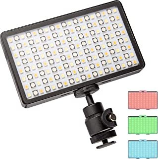 Walimex pro Rainbow Pocket LED RGB – op afstand bedienbare, compacte en sterke batterij-vlaklamp met kleur- en wit licht v...
