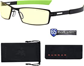 Youth Gaming Glasses - Razer MOBA Onyx/Amber by GUNNAR - 65% Blue Light Protection Gaming Glasses for Teens & Young Adults