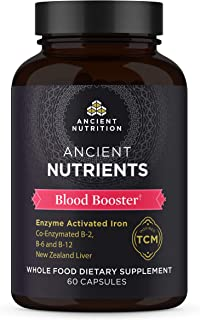 Ancient Nutrition, Ancient Nutrients Blood Booster - Co-enzymated B-2, B-6, and B-12, Adaptogenic Herbs, Paleo & Keto Frie...