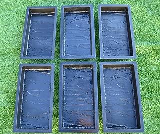 Betonex Sold Set 6 Piece Design Concrete MOLDS for Paving Brick Slab Patio Garden Path Mould#S23