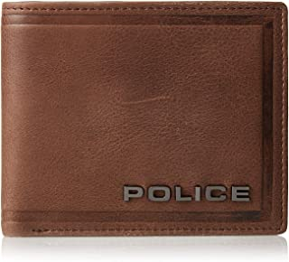 POLICE METAL LTR WALLET BROWN