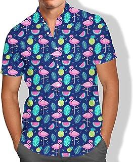 Camisa Praia Masculina Flamingo Tumblr Abacaxi Tropical