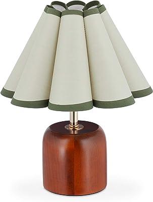 relaxdays 10036766 Lampe de Table dans Design Retro, HxD 30 x 26 cm, Douille E27, Socle, Abat-Jour, Gris Bleu, Marron