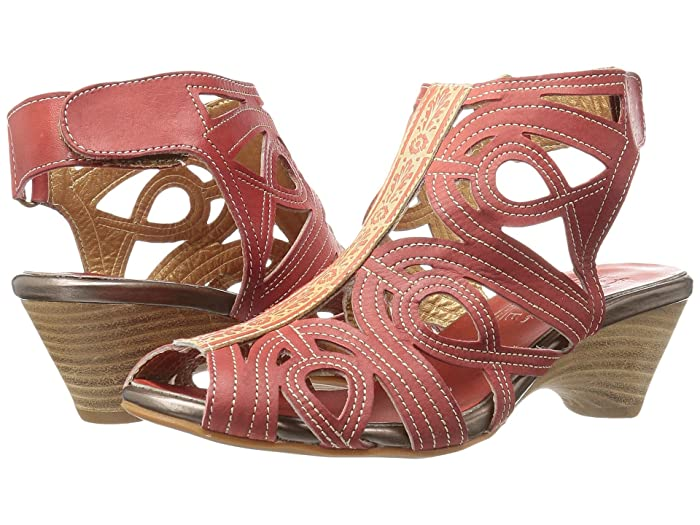 LArtiste by Spring Step  Flourish (Coral) Womens Sandals