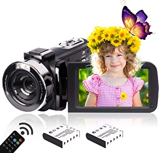 Heegomn 2.7K HD digitale camcorder voor jongeren/leerlingen/kinderen, 2688 x 1520P videocamera beginners voor YouTube Vlog...