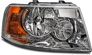 HEADLIGHTSDEPOT Chrome Housing Halogen Right Passenger Headlight Compatible With Holiday Rambler Vacationer 2009-2010 Motorhome RV