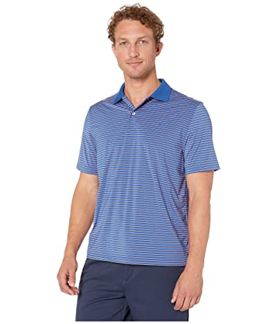 Southern Tide Barrier brrr Performance Striped Polo Shirt (Blue Cove) Men
