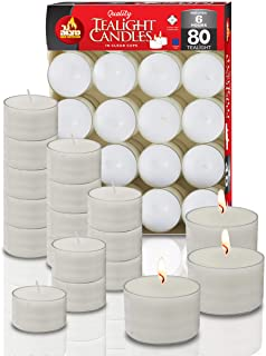 comprar comparacion Ner Mitzvah Velas de candelita ardientes largas 6 Horas - Blanco en Copas Transparentes - Sin Perfume - Paquete de 80 - He...