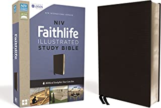 NIV, Faithlife Illustrated Study Bible, Premium Bonded Leather, Black: Biblical Insights You Can See