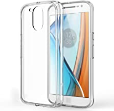 Moto G4 Case, Moto G4 Plus Case, TownShop Ultra Slim Hybrid Clear Soft TPU Side and Clear Hard Acrylic Back Panel Scratch Resistant for Motorola Moto G4 / Moto G4 Plus