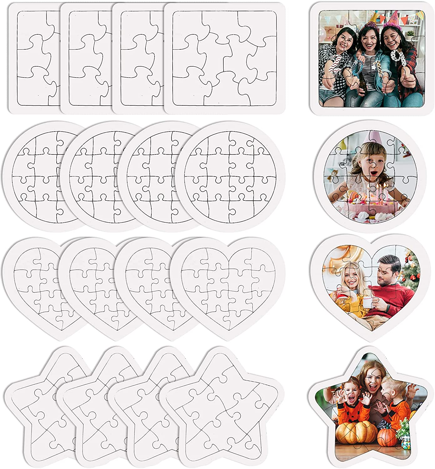 Chris.W 20 Sheets Sublimation Max 72% OFF Blanks Jigsaw Puzzl White Puzzles latest