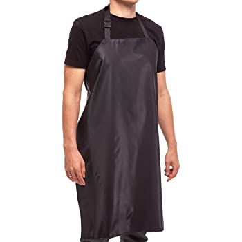 "Waterproof Rubber Vinyl Apron - 35"" Light Duty Model - Best for Staying Dry When Dishwashing, Lab Work, Butcher, Dog Grooming, Cleaning Fish, Projects - Industrial Chemical Resistant Plastic"