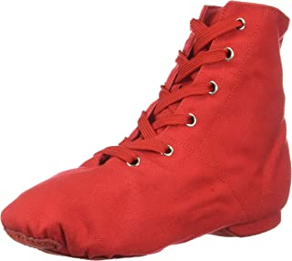 Danzcue Womens Canvas Lace up Jazz Boot Shoes