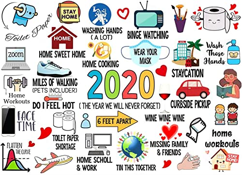 OPTIMISTIC Puzzle for Adults 1000 Pieces -2020 Quarantine Themed Puzzles - DIY Puzzle Game Collection - 1000 Pieces Jigsaw Puzzle, 29x19In, Creative Holiday Decor to Memorialize This Difficult Year