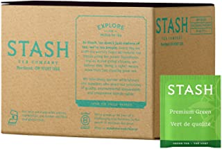 Stash Tea Premium Green Tea 100 Count Box of Tea Bags in Foil