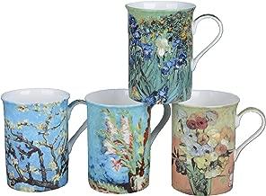 Gracie Bone China Impressions 9-Ounce Mug, Set of 4