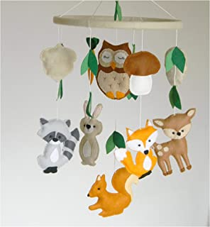 Woodland Mobile Woodland nursery mobile Animals Mobile Woodland creatures nursery Baby mobiles hanging Forest nursery decor