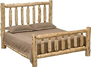 Fireside Lodge Furniture Traditional Cedar Log Bed, King