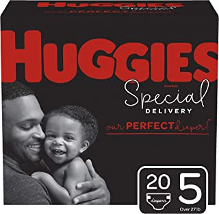 Huggies Special Delivery Hypoallergenic Diapers, Size 5 (27+ lb.), 20 Ct, Jumbo Pack