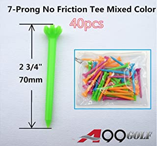 "A99 Golf 2 3/4"" 7-Prong No Friction Mixe Color Tee 40pcs"