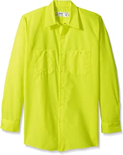 Men's Enhanced Visibility Long Sleeve Ripstop Work Shirt